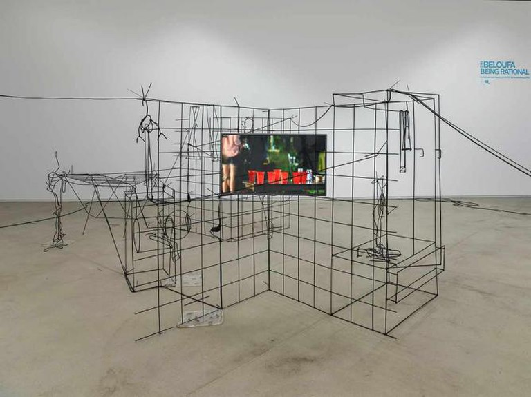 Neïl Beloufa, Counting on People, installation views ICA, London, 2014, Courtesy of the Artist, and François Ghebaly Gallery