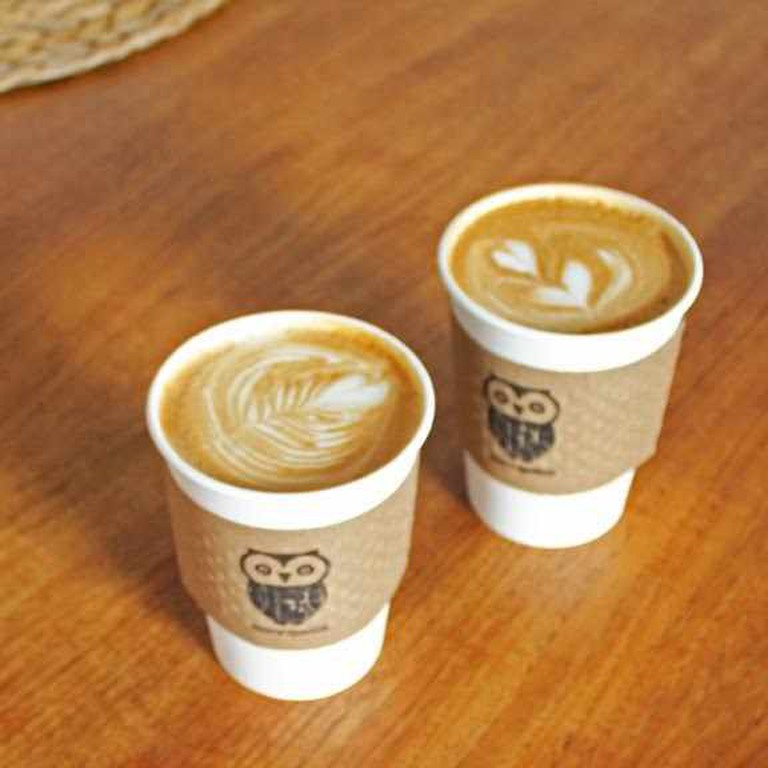 Coffees to go | Courtesy of Morning Owl Coffeehouse