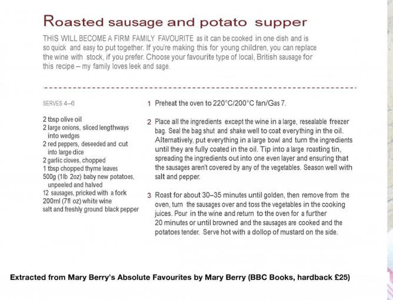 Extracted from Mary Berry's Absolute Favourites by Mary Berry © BBC Books (hardback £25)