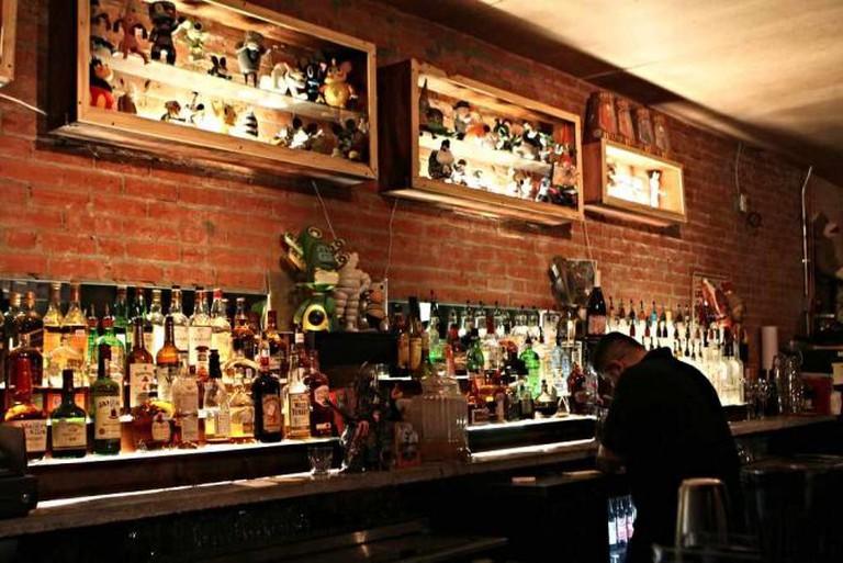 The interior bar at Strangeways.
