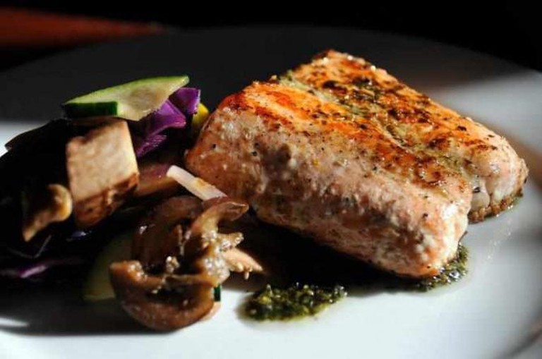 Salmon at Capital Cocina y Café