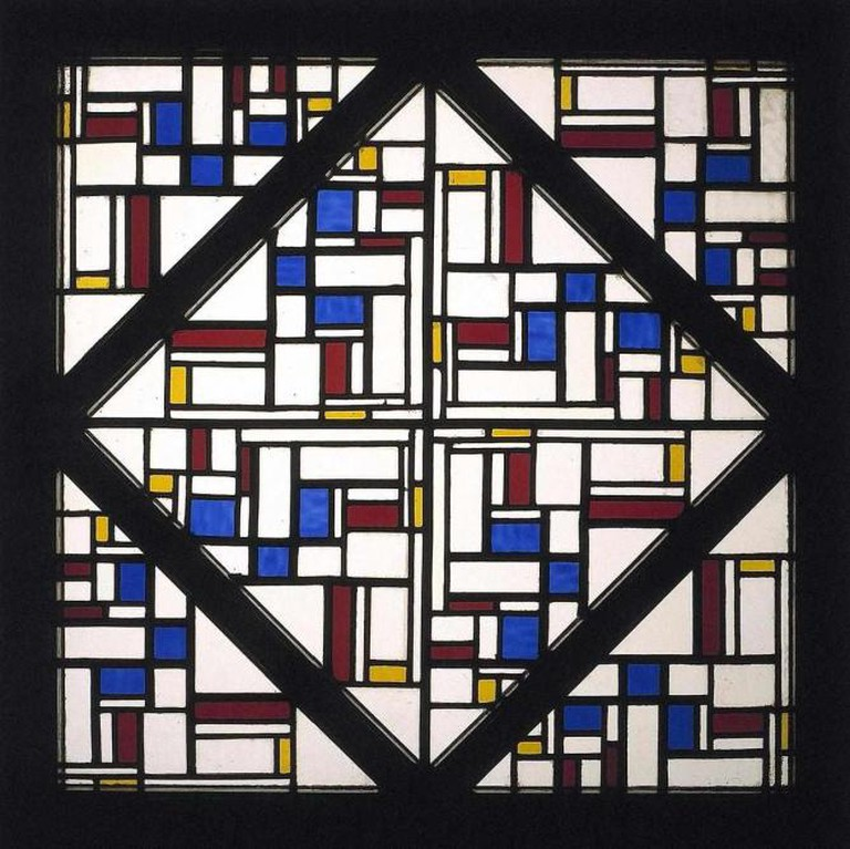 Theo van Doesburg Composition with window with stained glass III | © geheugenvannederland.nl/WikiCommons