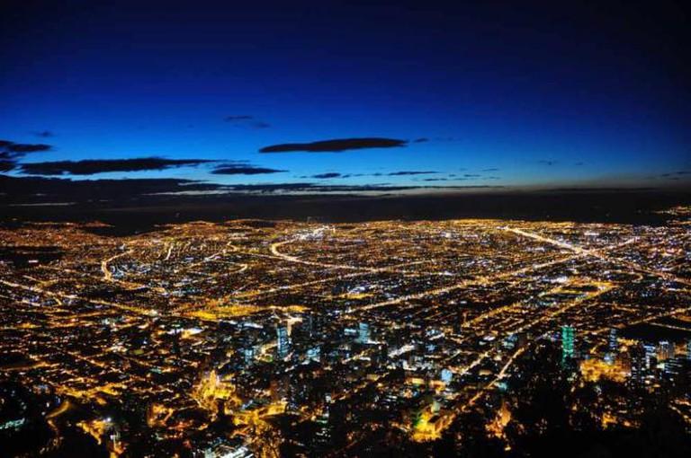 Bogotá from Cerro Monserrate | ©Jorge Díaz/Flickr