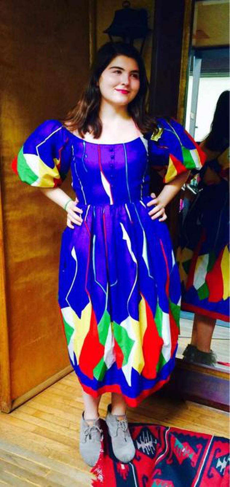A rainbow dress at Wasteland © Seleba Ouattara