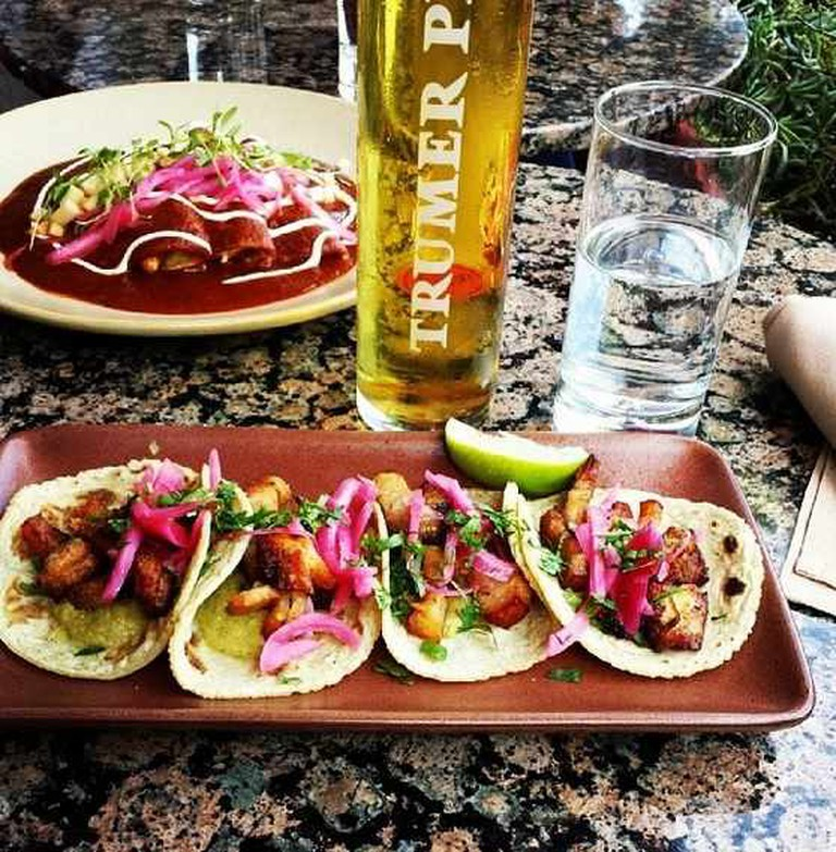 Tacos and Beer | Courtesy of Copita