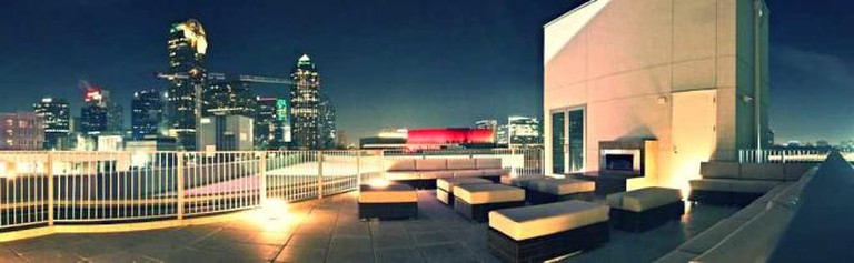 The rooftop lounge at Tei-An restaurant in Dallas, Texas.