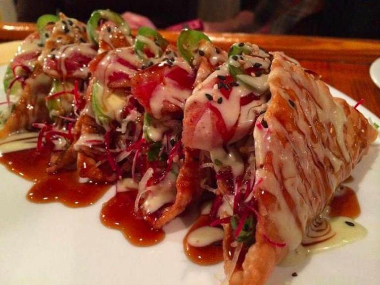 Tuna Tacos | Courtesy Garlic Thai Cuisine & Sushi Bar