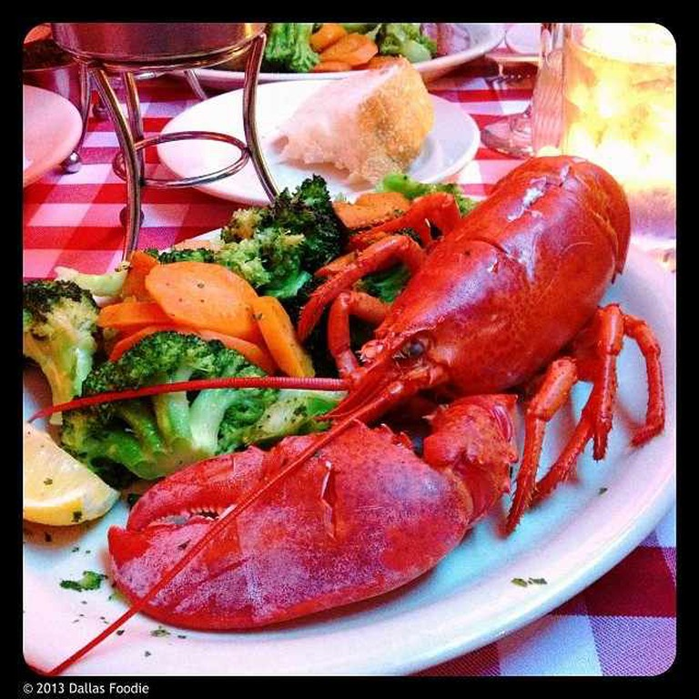 The full New England lobster dish at Daddy Jack's in Dallas, TX.