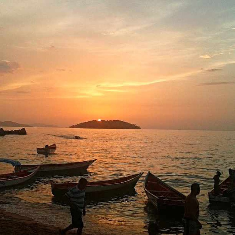 Sunset at Parque Nacional Mochima