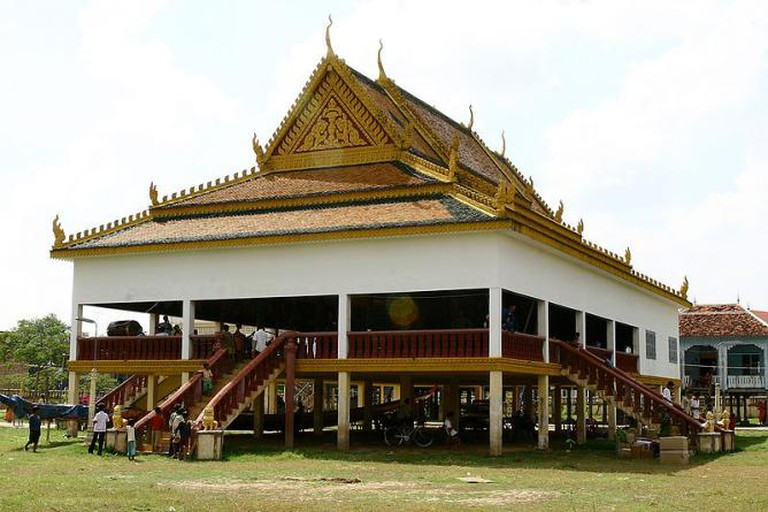 Buddhist temple in the village of Stung Trung, Cambodia | © Kristofer R. Atkinson/WikiCommons