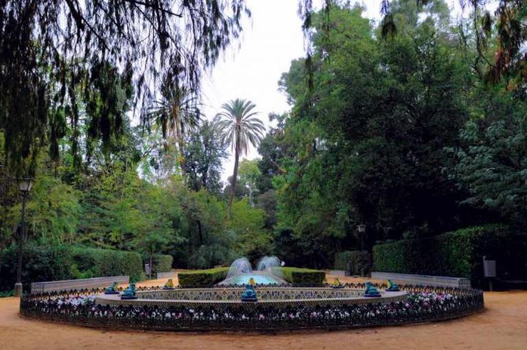 maria luisa park fountain