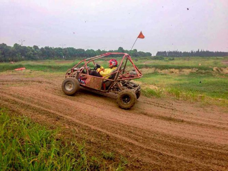 Dune Buggy Racing at Xin Dong Li | Courtesy of Tiffany Espin
