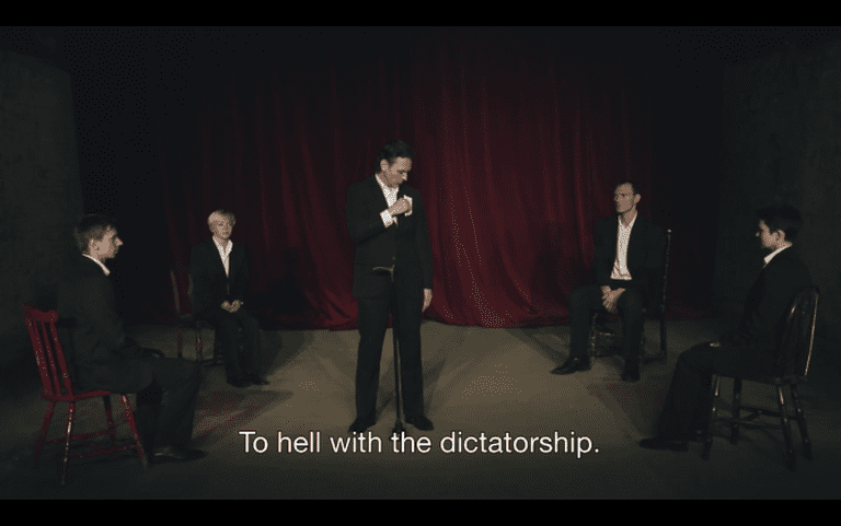 Screenshot from 'Dangerous Acts Starring the Unstable Elements of Belarus' | © Dogwoof
