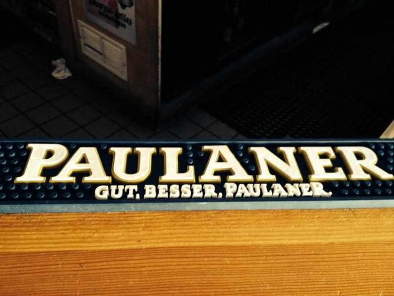 Paulaner logo and motto at Wirtshaus I Courtesy of Ryland Lu