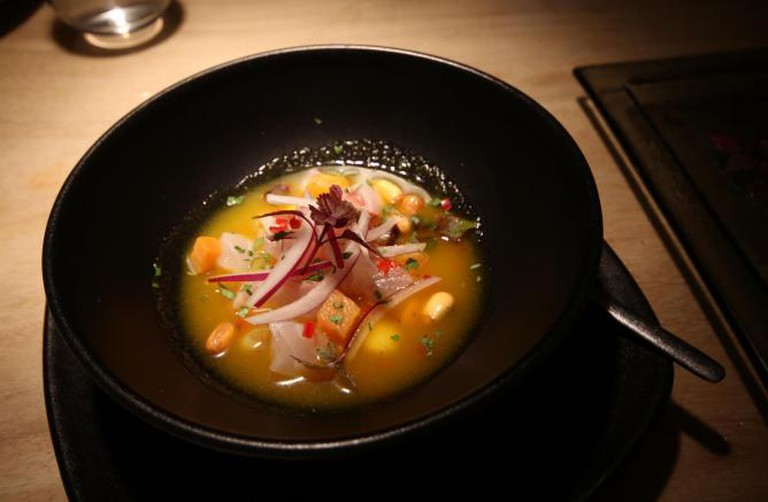 Sea bass ceviche | Courtesy of Ellie Griffiths