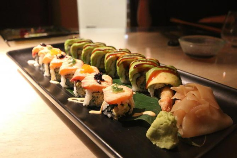 Crazy Roll on the left and Dragon Roll on the right | Courtesy of Ellie Griffiths