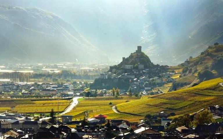 Vineyards in Valais in Autumn | © Kosala Bandara/Flickr