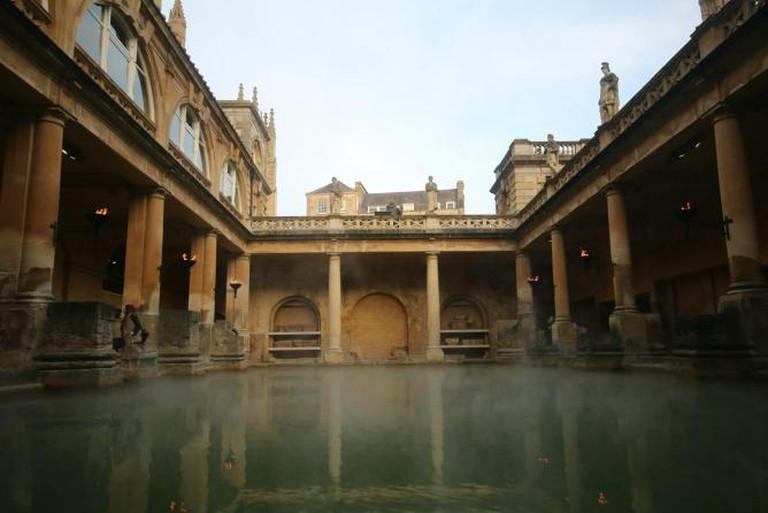 Listen carefully at the Roman Baths, England © Ellie Griffiths