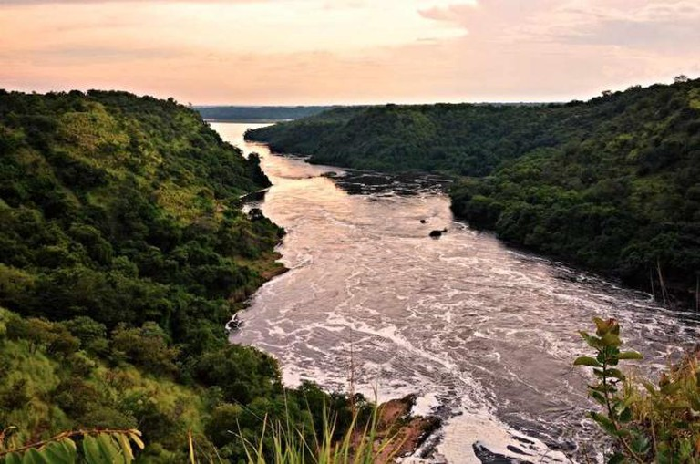 Evening view of the Nile River Towards Uganda