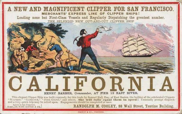 Men Rushing to California | © G.F. Nesbitt & Co./UC Berkeley, Bancroft Library