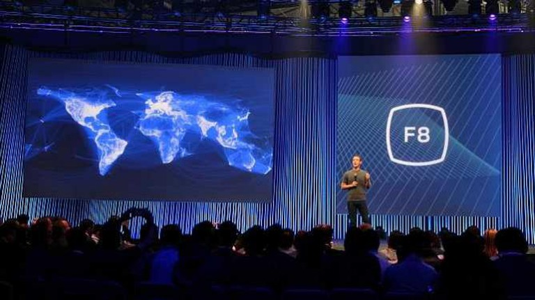 Mark Zuckerberg on stage at Facebook's F8 Developers Conference 2015 | © Maurizio Pesce/Flickr