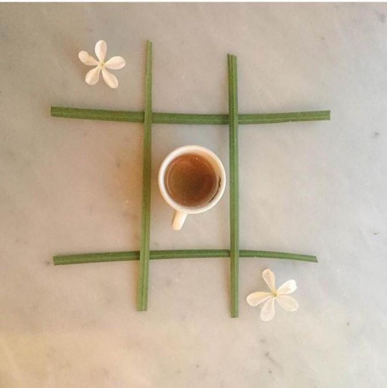 espresso and flowers