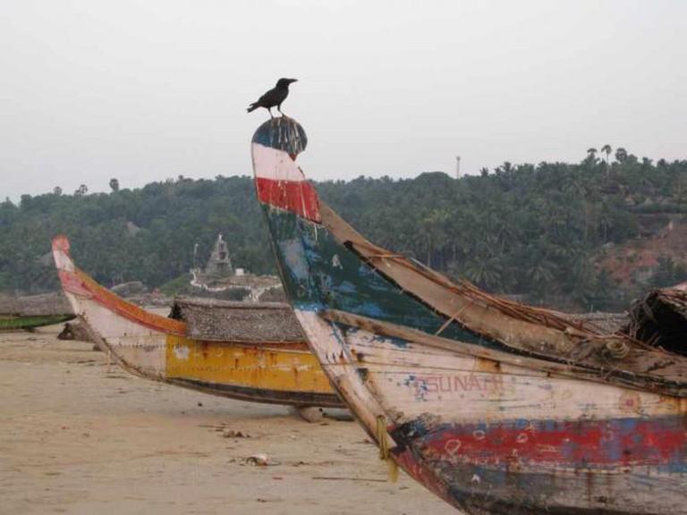 Boats, Kerala | © Fabrice Florin/Flickr