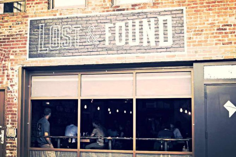 The front facade of the Lost & Found bar.