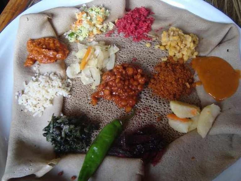 Ethiopia's national dish | Courtesy of Sian Atkins
