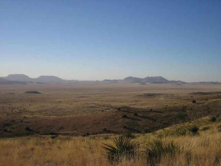 The vast Chihuahua desert surrounding Marfa