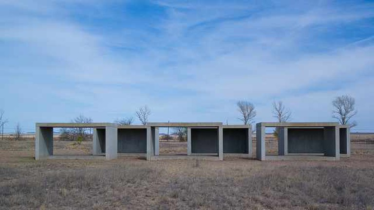 A Judd concrete art installation
