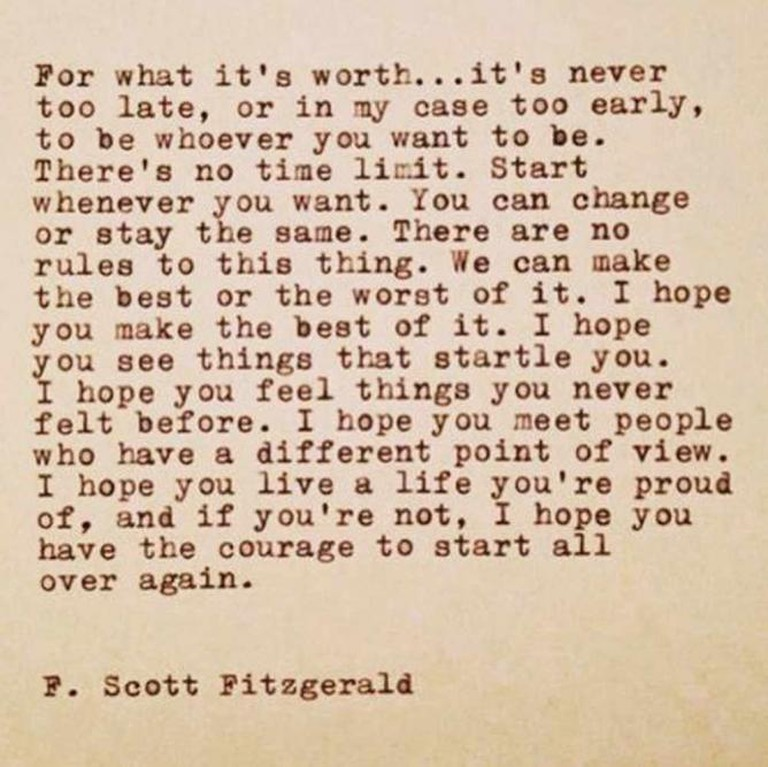 Fitzgerald quote © HungryGems