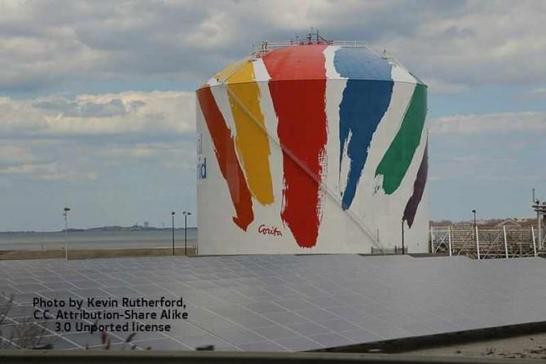 Rainbow Swash by Corita Kent   © Kevin Rutherford/blue cheddar/Flickr