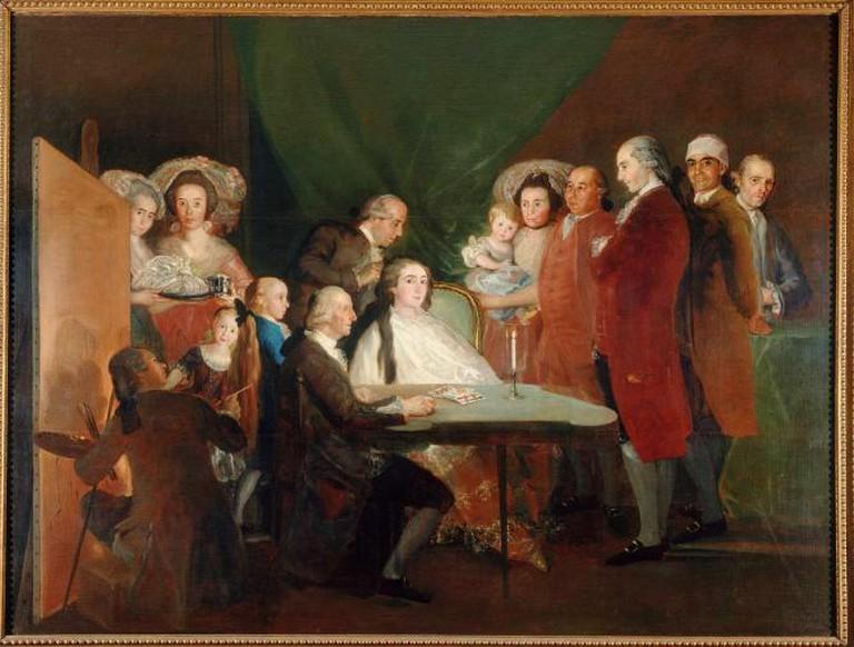The Family of the Infante Don Luis de Borbón, 1783 – 1784, oil on canvas, 248 x 328 cm, Fondazione Magnani Rocca, Parma, Italy © Fondazione Magnani Rocca, Parma, Italy