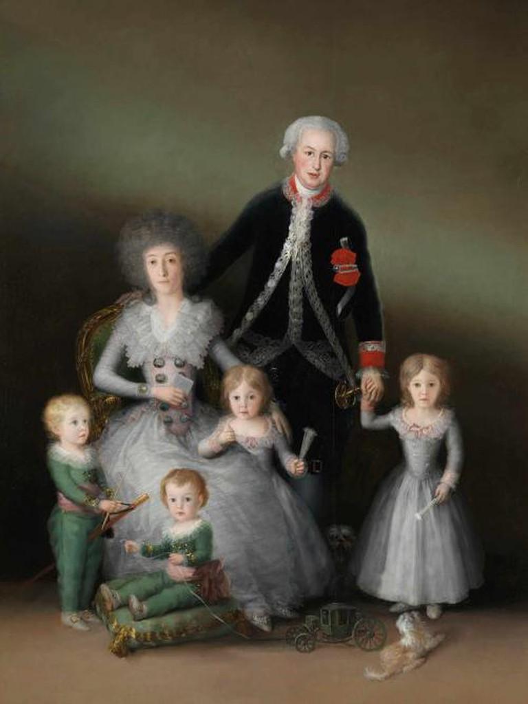 The Duke and Duchess of Osuna and their Children, 1788, oil on canvas, 225 x 174 cm, Museo Nacional del Prado, Madrid © Madrid, Museo Nacional del Prado