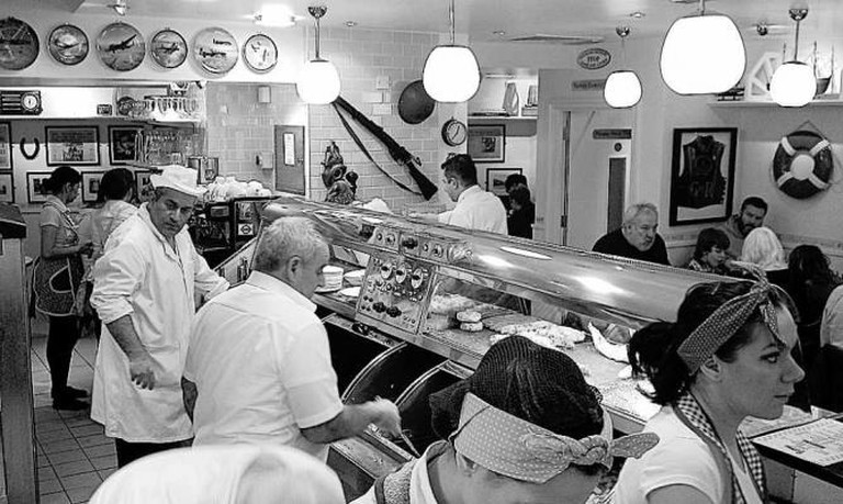 Interior of Poppies Fish & Chips © Poppies Fish & Chips