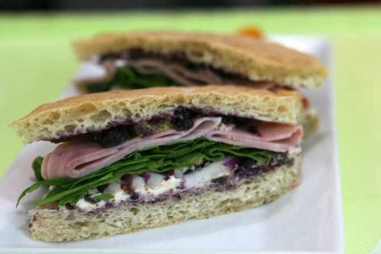 Ham Blueberry Sandwich | © Susan Lucas Hoffman/Flickr