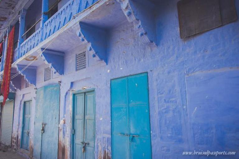 The characteristic blue houses of Jodhpur