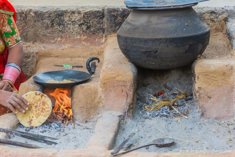 A delicious home-cooked food at a local's house deep in the countryside