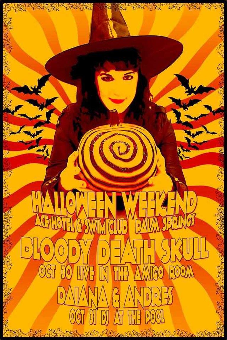 Spend Halloween Weekend with Bloody Death Skull