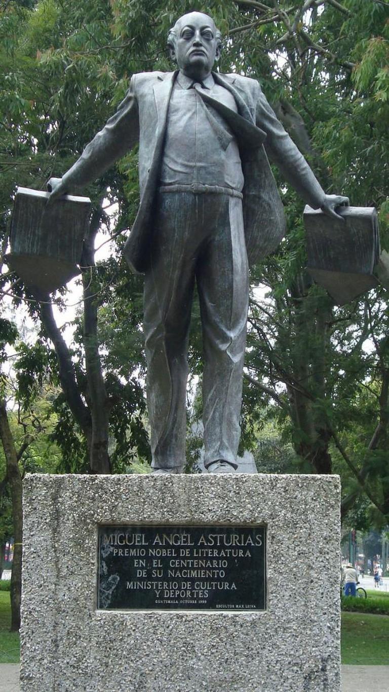 View of Miguel Ángel Asturias Rosales Monument