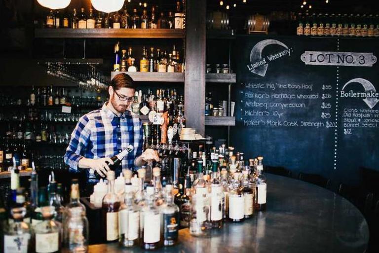 Lot No. 3's bar | Photo by Matthew Sumi Photography/Courtesy Lot No. 3