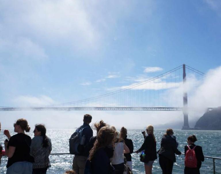 On the cruise to Golden Gate Bridge  © Phuong Pham