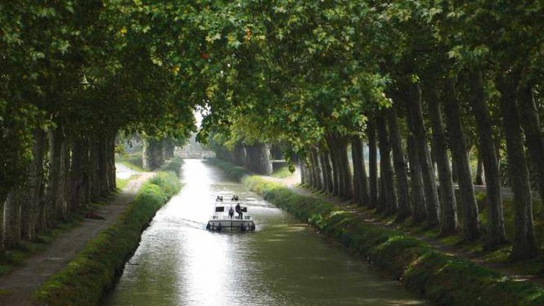 A stretch of Le Canal du Midi | © Peter Gugerell/WikiCommons