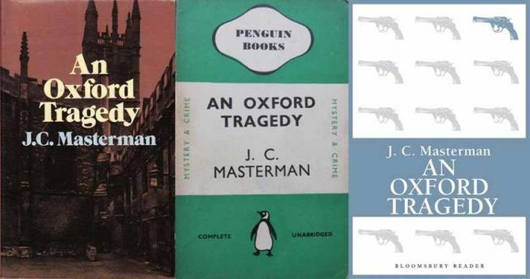 Alternative covers for An Oxford Tragedy | © Goodreads/Blogspot/Bloomsbury