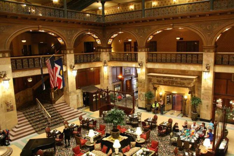 The Lobby of The Brown Palace