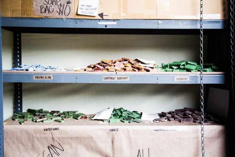 Level Natural's soap shelves | © Amanda Hoskinson/mediamandy