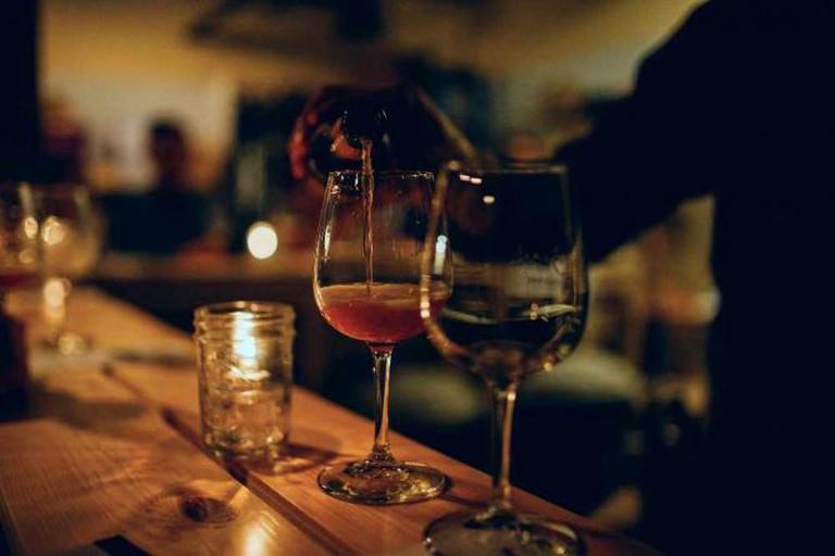 wine on bar