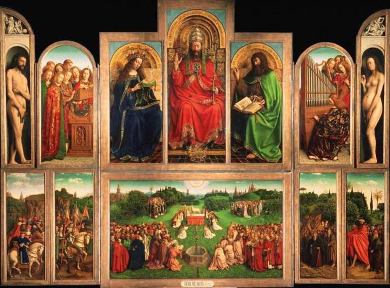 Hubert and Jan van Eyck, Ghent Altarpiece, 1432, Cathedral of Saint Bavo, Ghent, Belgium