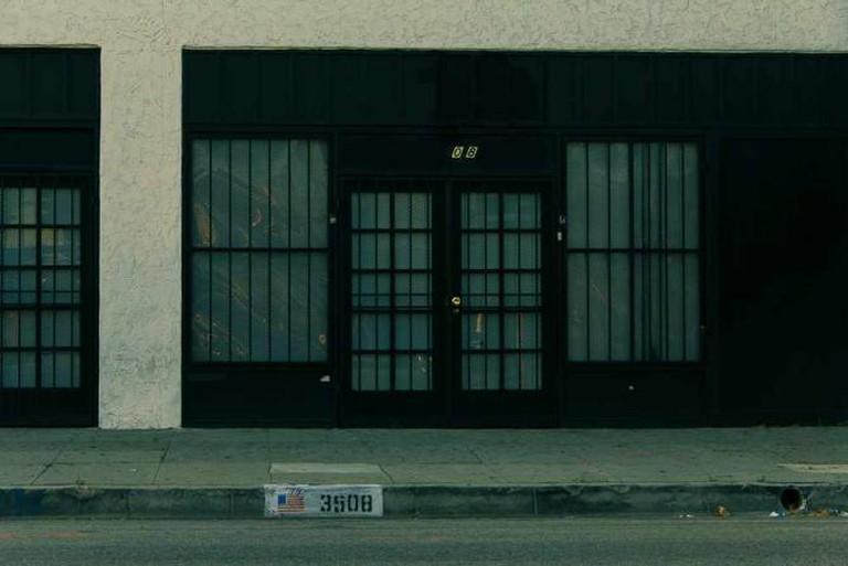 The modest exterior of LA's secret art haven. © Vernon X. Odemns